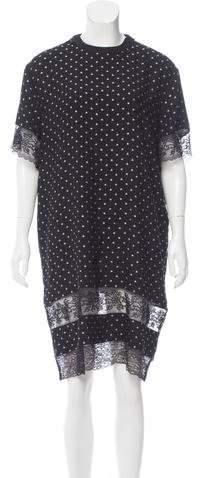 Givenchy Lace-Trimmed Silk Dress