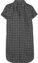Madewell Plaid Flannel Shirt Dress - Black