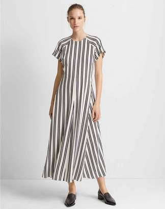 Club Monaco Striped Midi Dress