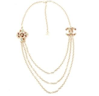 Chanel CC Multi-Chain Long Necklace