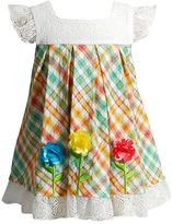 Youngland Baby Girl Plaid Rosette Seersucker Dress