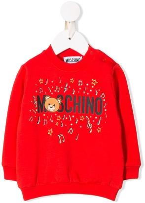 MOSCHINO BAMBINO Music Print Sweater