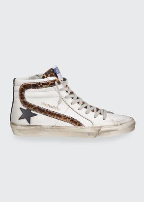 Golden Goose Slide High-Top Zip Sneakers