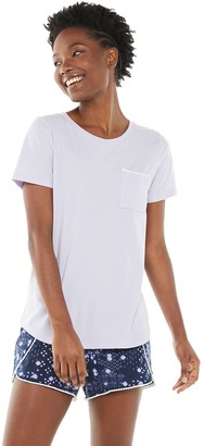 Sonoma Goods For Life Women's Pocket Sleep Tee & Tulip-Hem Shorts Pajama Set
