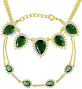 JCPenney FINE JEWELRY Simulated Emerald and Cubic Zirconia Bracelet and Necklace Set