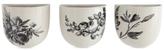 3R Studio Set of 3 Floral Stoneware Wall Vases