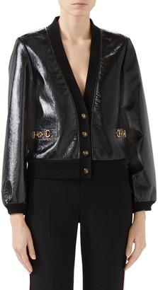 Gucci Interlocking-G Horsebit Leather Jacket