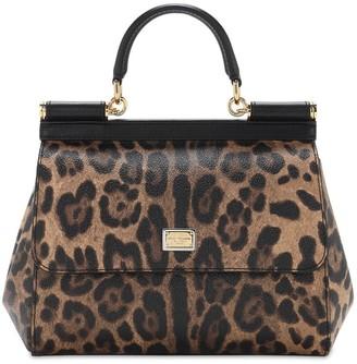 Dolce & Gabbana Small Sicily Crespo Leopard Bag