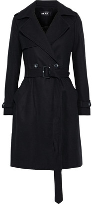 DKNY Double-breasted Belted Wool-blend Felt Coat