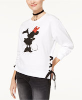 Freeze 24-7 Disney Juniors' Minnie Mouse Lace-Up Graphic Sweatshirt