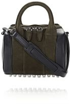 Alexander Wang Mini Rockie In Nubuck Grass And Soft Pebbled Neptune