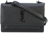 Saint Laurent logo monogram shoulder bag - women - Leather - One Size