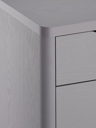 Aspen Slim 4 Drawer Chest - Grey Oak Effect