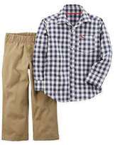 Carter's 2-Piece Long Sleeve Shirt and Pant Set in Blue