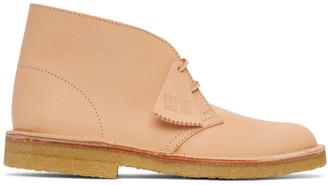 Clarks Beige Nubuck Desert Boots