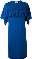 MSGM ruffled T-shirt dress - women - Cotton/Polyester - XS