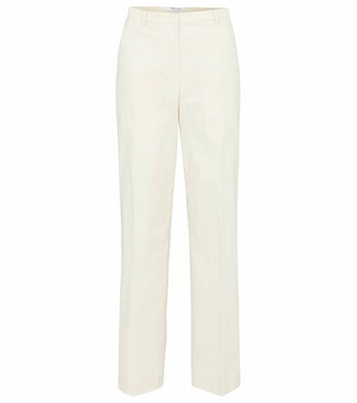 Loro Piana Bayron high-rise wide-leg cotton pants