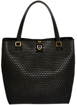 Karen Millen Large Perforated Tote Bag, Black