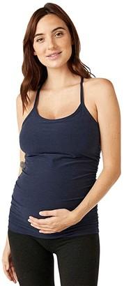 Beyond Yoga Maternity Spacedye Slim Racerback Tank (Nocturnal Navy) Women's Clothing