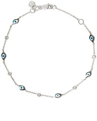 Sydney Evan 14kt white gold Evil Eye diamond bracelet