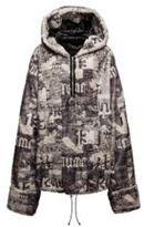 Puma Half-Zip Pullover Printed Faux Fur Hoodie