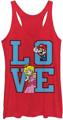 Fifth Sun Women's Tank Tops RED - Super Mario & Princess Peach 'Love' Tank - Women & Juniors
