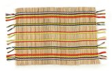 Fiesta Jamboree Fringed Striped Bamboo & Cotton Placemat