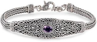 Samuel B. Silver 0.80 Ct. Tw. Amethyst Bracelet