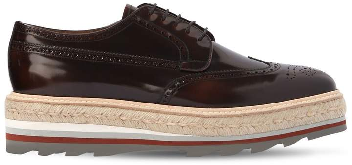 Prada Opposite Gradient Leather Derby Shoes
