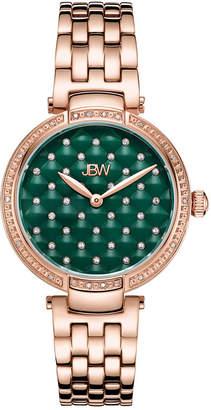 JBW 18K Rose Gold Over Stainless Steel 1/5 CT. TW. Genuine Diamond Bracelet Watch-J6356b
