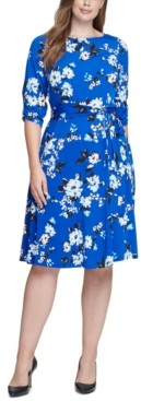 Jessica Howard Plus Size Floral-Print Midi Dress