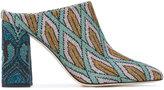 Circus Hotel geometric pattern mules - women - Leather/Metallic Fibre - 38