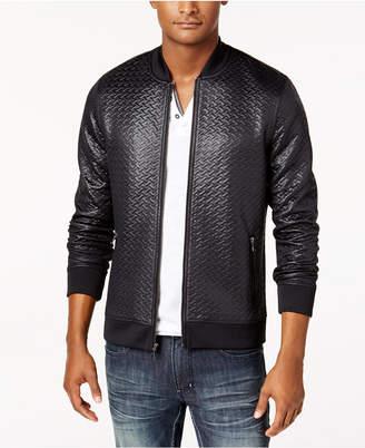 INC International Concepts Inc Men Basket-Weave Bomber Jacket