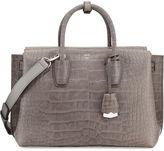 MCM Milla Medium Crocodile-Embossed Tote Bag