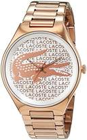 Lacoste Women's Quartz Watch with Valencia Analogue Quartz Stainless Steel Coated 2000929