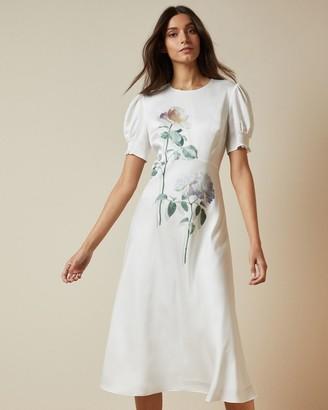 Ted Baker Bouquet Bias Cut Tea Dress