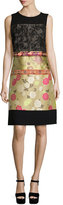 Etro Sleeveless Patchwork Dress, Beige
