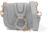 See by Chloe Hana Mini Textured-leather And Suede Shoulder Bag - Gray