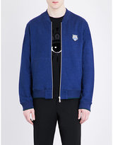 Kenzo Logo-embroidered Cotton-jersey Jacket