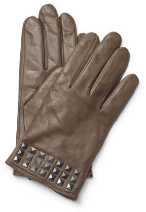 Club Monaco Contrast Stud Leather Glove