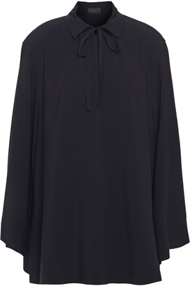 Joseph Fran Bow-detailed Ribbed Silk Blouse