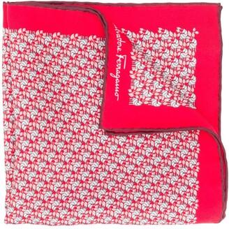 Salvatore Ferragamo Silk Geometric-Print Square Scarf