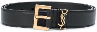 Saint Laurent Logo Plaque Adjustable Belt