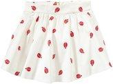 Kate Spade Coreen Skirt (Toddler/Kid) - Ladybug Print Cream-3T