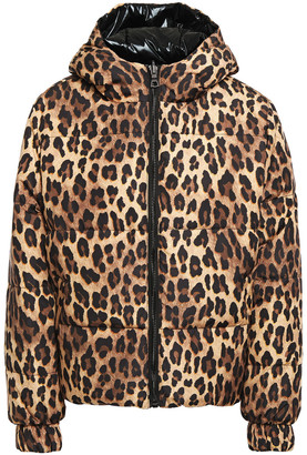 Alice + Olivia Durham Reversible Leopard-print Shell Down Hooded Jacket