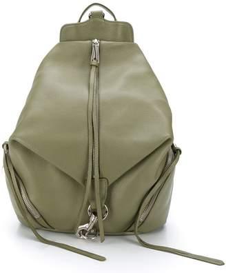 Rebecca Minkoff Julian Leather Front Zip Backpack Olive
