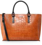 Armani Jeans Crocodile Effect Shopper Bag