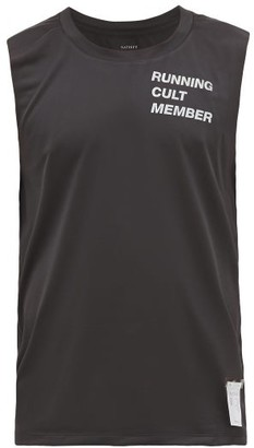Satisfy Reflective-logo Technical Tank Top - Mens - Black