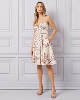 Le Château Floral Cotton Sateen Fit & Flare Dress