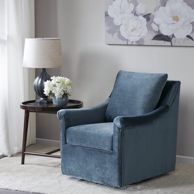 """Thumbnail for your product : Alcott Hill Lundell 28.54"""" Wide Polyester Swivel Armchair"""